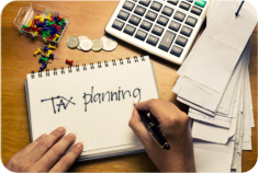 tax planning word